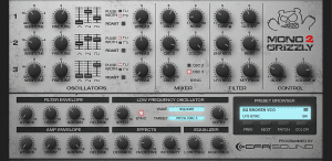 MonoGrizzly 2 – Bass Synthesizer - GUI Grey