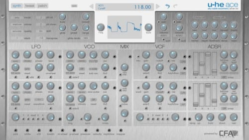 gui skin for uhe ace synthesizer