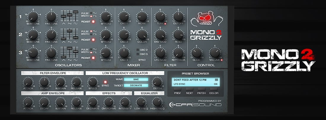 MonoGrizzly 2 – Bass Synthesizer