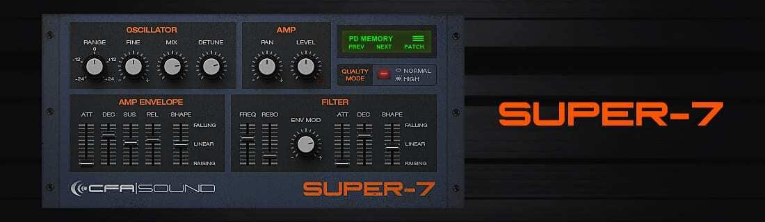 SUPER-7 - Supersaw VST Plugin