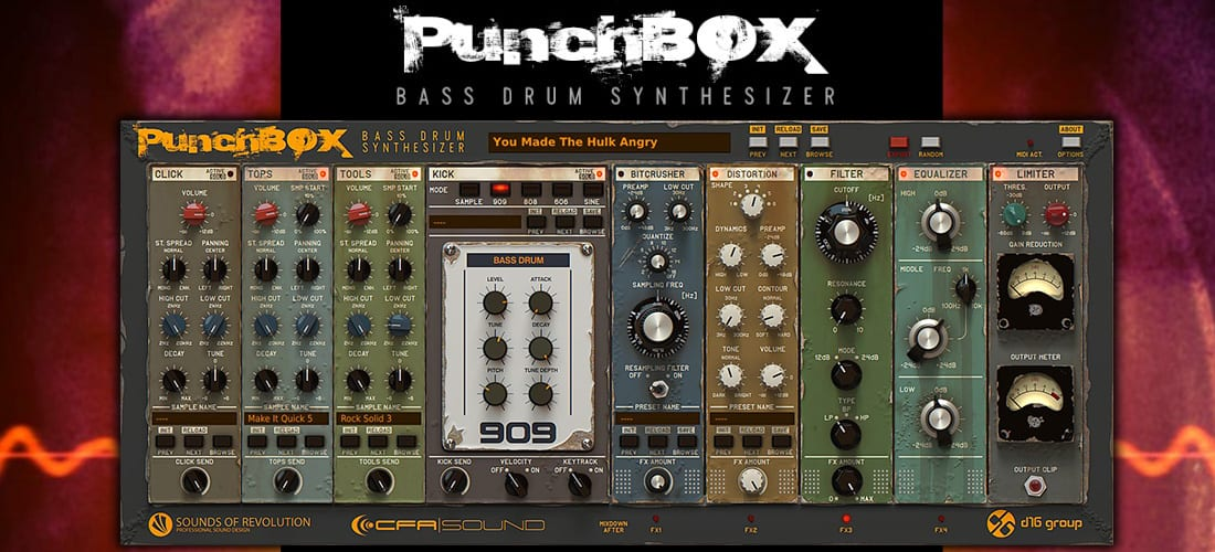 D16 PunchBox - Bass Drum Synthesizer