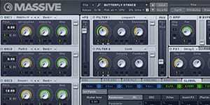 Massive synthesizer from Native Instruments Komplete series