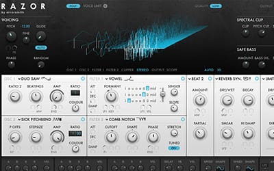 futuristic reaktor based synth by native instruments