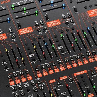 vintage reproduction modular analog synthesizer