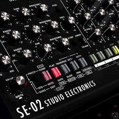 analog synthesizer by studio electronics and roland